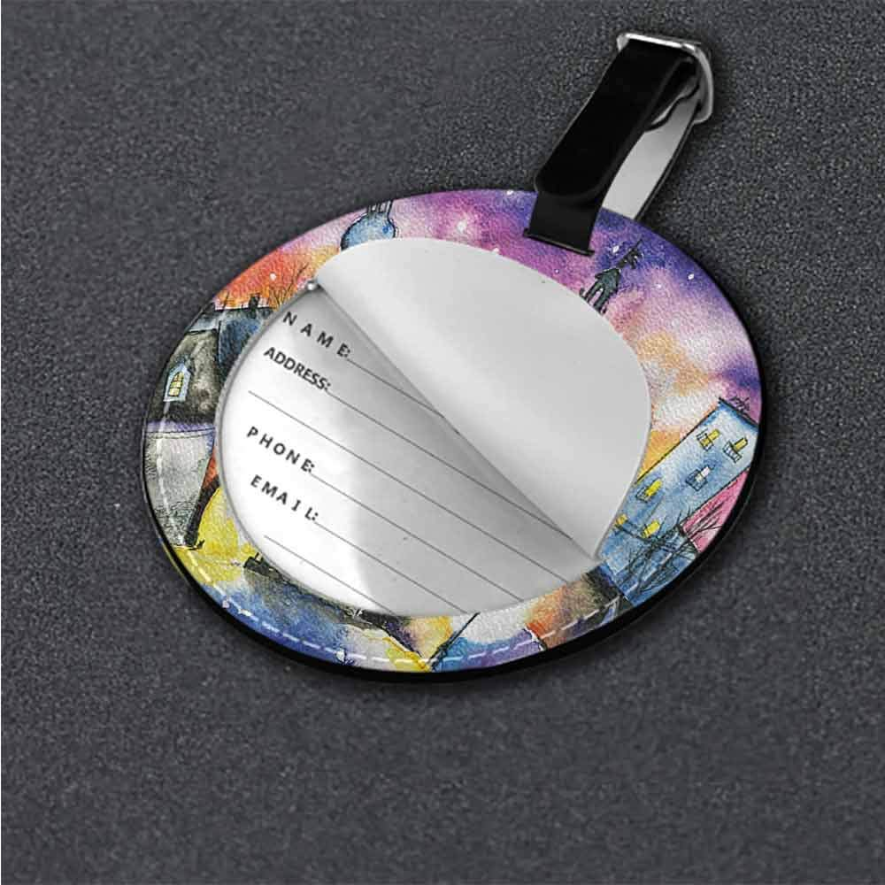 New Suitcase Cartoon Luggage Abstract,Traditional Japanese Motif Id Tag Suitcase Carry