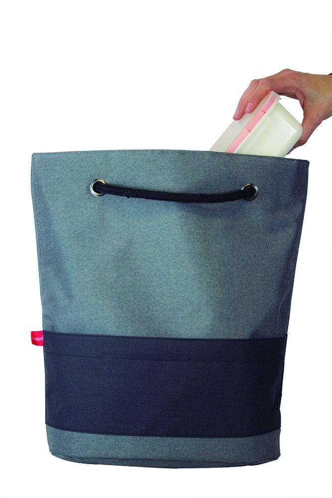 color negro Valira Porta alimentos Bolsa Classic incluye dos contendores herm/éticos hechos en Espa/ña