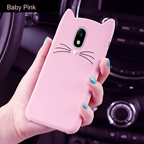 sports shoes 5c911 e2181 ERIT Samsung Galaxy J7 Pro [3D Cartoon Series] 3D Cute Cat Meow Soft  Silicone Back Cover for Samsung J7 Pro - (Pink) 3D Meow Party Bread Cat  Kitty ...