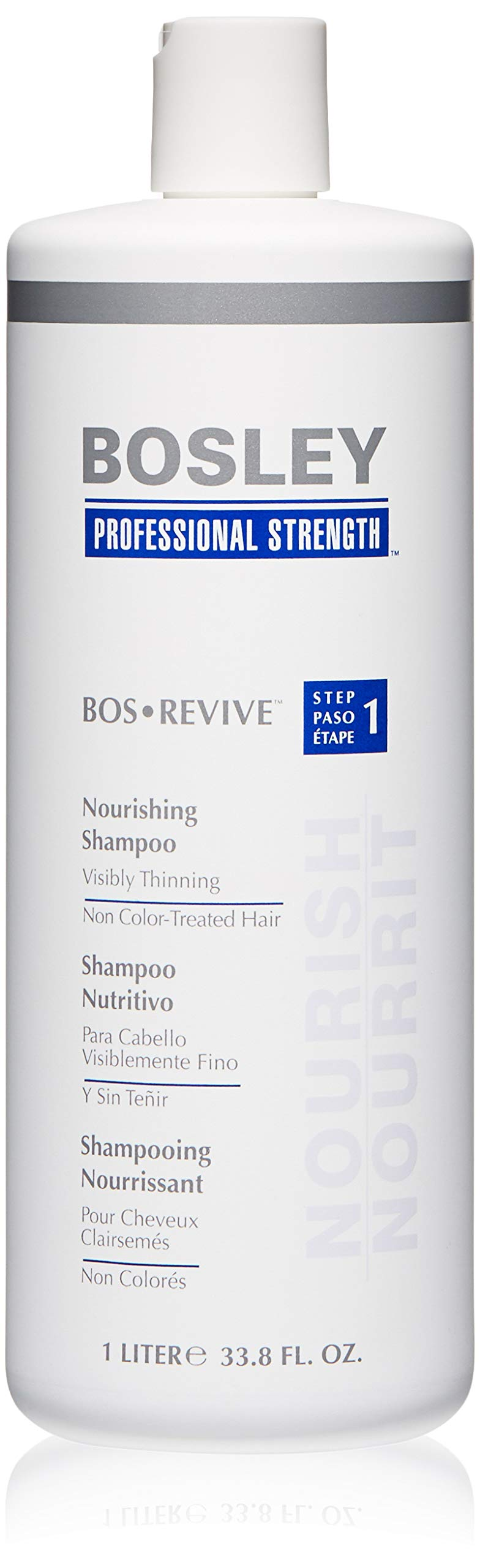 Bosley Bos Revive Nourishing Shampoo for Visibly Thinning Non Color-Treated Hair, 33.8 Ounce by Bosley Professional Strength
