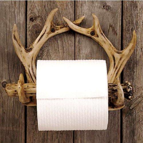 Antler Toilet Paper Holder by Black Forest Decor