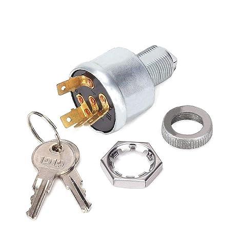 amazon com: 10l0l golf cart key switch for ezgo 33639g01, ignition switch for  ezgo golf cart with lights (standard key): automotive