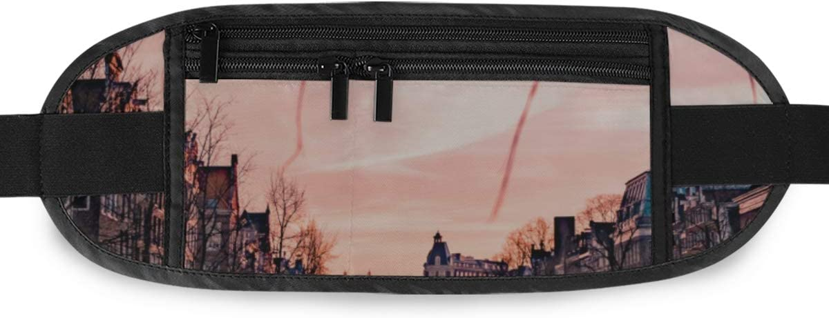 Travel Waist Pack,travel Pocket With Adjustable Belt Amsterdam Netherlands Beautiful Groenburgwal Canal Amsterdam Running Lumbar Pack For Travel Ou
