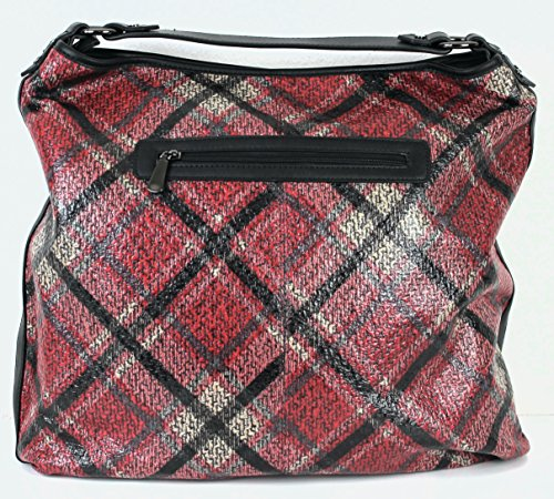 Limited Colors Handtasche Lederlook Beuteltasche Shopper Rot XsDiuhsZy