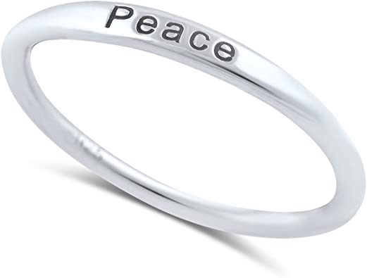 Sterling Silver Thin Stackable Love Ring Size 4-11