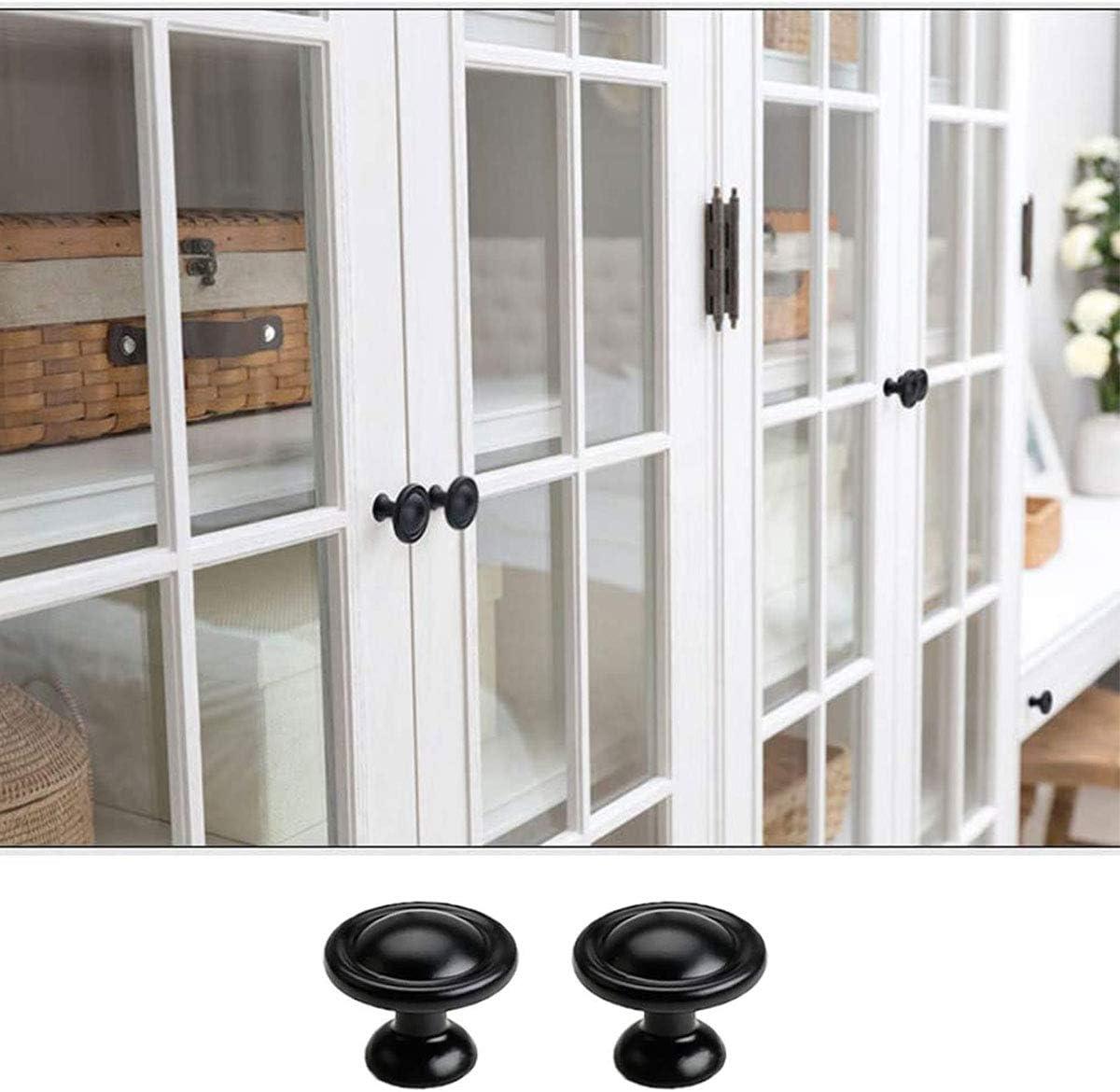Tirador para muebles estilo vintage 2 unidades 30 x 30 x 24 mm para cocina en el hogar color negro mate