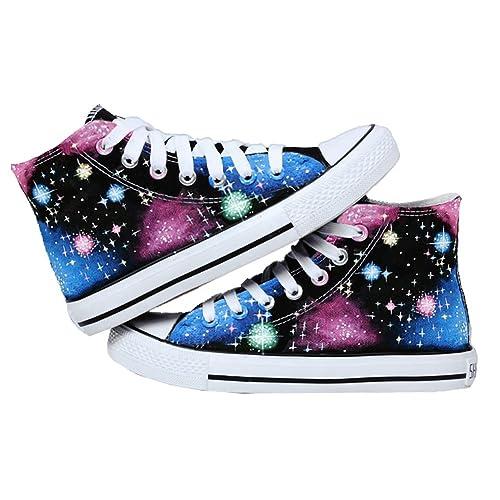 bopstyle Cielo Estrellado Zapatos Zapatillas Zapatos de Lienzo Pintado a Mano: Amazon.es: Zapatos y complementos