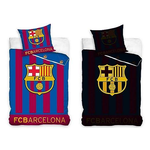 incluye funda para almohada y edred/ón brilla en la oscuridad Juego de cama del Barcelona F.C.