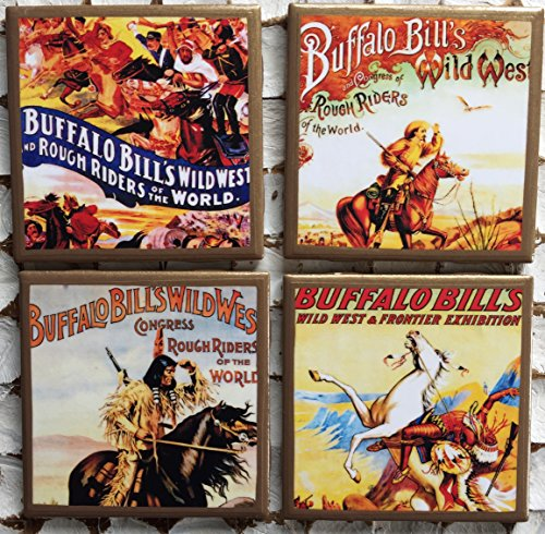 - Buffalo Bill coasters with gold trim