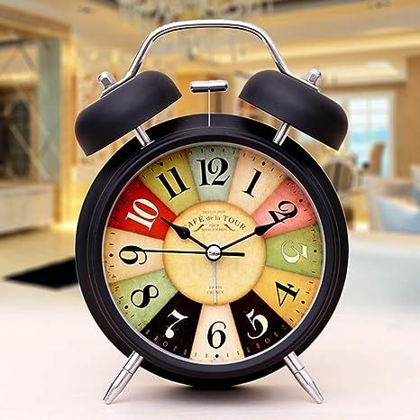 XU FENG Vintage Retro Antiguo Anticuado Decorativo Silencio Sin tictac Barrido de Segunda Mano, Reloj