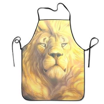 Delantales Yissalvunaz oro león del rey en el cielo, unisex ...