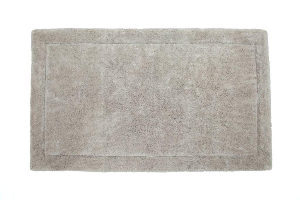 Casalanas - Santorin, Beidseitig verwendbar, Schwerer Badezimmerteppich, 100% Natur-Baumwolle, 120x70cm, Beige