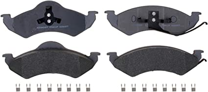 Disc Brake Pad Set-Semi Metallic Disc Brake Pad Front ACDelco Advantage 14D784MH