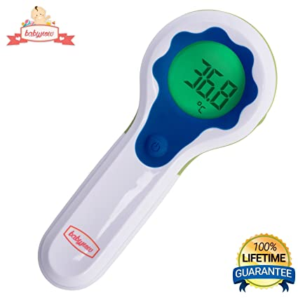 Digital Baby Thermometer - Accurate Temporal Baby Forehead Scan - Non Contact Baby Thermometer - Laser
