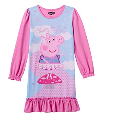 4b98c24502 Amazon.com  Peppa Pig Girls Nightgown Long Sleeve Night Gown Toddler ...