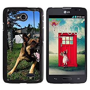 Super Stella Slim PC Hard Case Cover Skin Armor Shell Protection // M00105601 Dog Canine Growling Bark Barking // LG Optimus L70 MS323