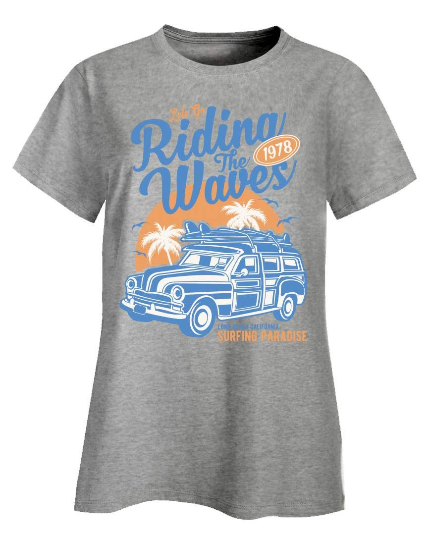 Surfing Paradise Riding The Waves Long Beach California Surfer T Shirt 7447