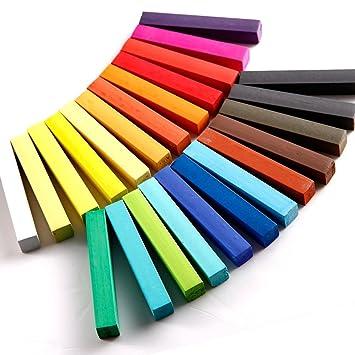 kit de 24 couleur coloration cheveux teinture craie crayon temporaire coiffure - Coloration Cheveux 61