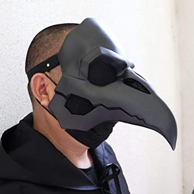 NewPinky Punk Retro Plague Doctor Plague Crow Beak Halloween Masks: Home & Kitchen