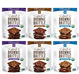 Brownie Brittle Organic Non-GMO 3 Flavor Variety Pack, 5 Ounce Bags (Pack of 6)