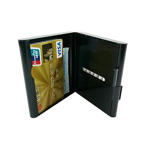 Cartera de metal para cigarrillos, con soporte para tarjetas de crédito, tamaño pequeño,