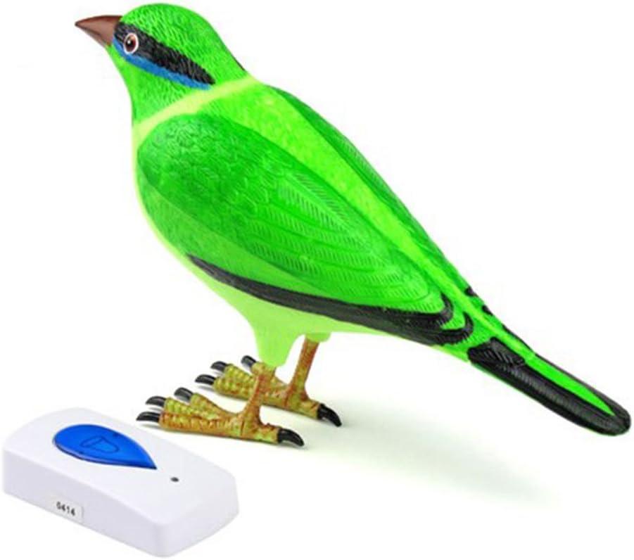 verde color verde Timbre digital inal/ámbrico de dise/ño /único con sonido de p/ájaro