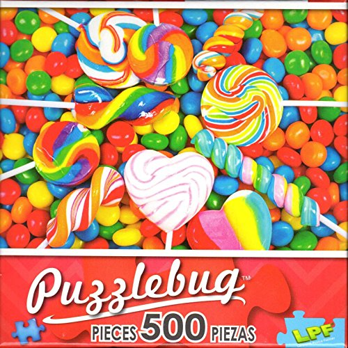 Puzzlebug 500 - Colorful Lollipops and Candy -