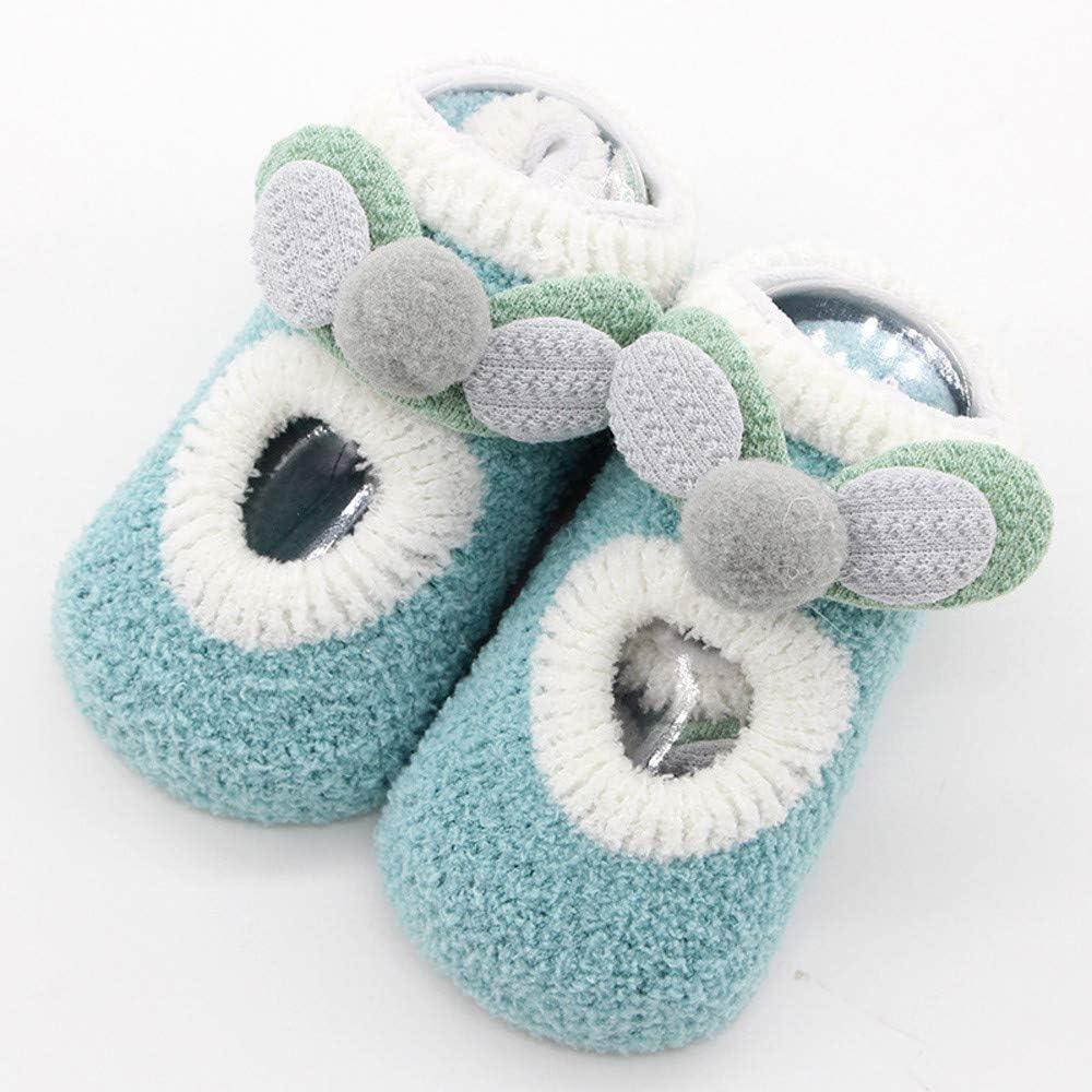 Huhu833 Baby Socken Neugeborenes Baby Jungen M/ädchen Cartoon Ohren Boden Socken Anti-Rutsch Baby Schritt Socken