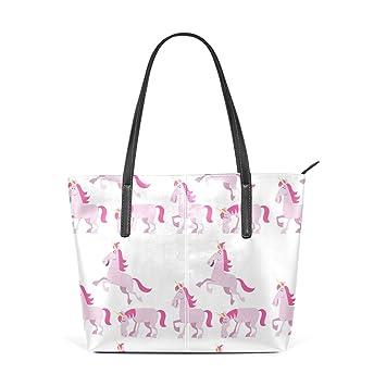 Amazon.com: Bolso de piel para mujer, diseño de unicornio ...