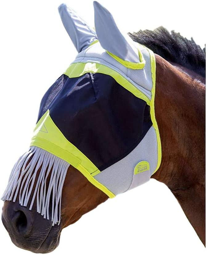 Shires Air Motion Fly Mask With Ears and Nose Fringe