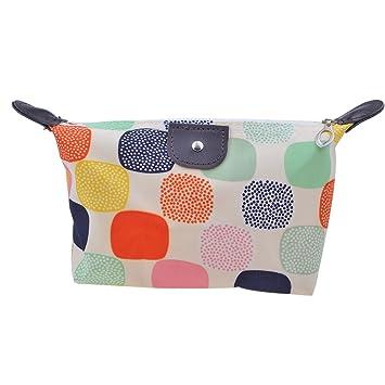 5cb7b1d167 Amazon.com   Parateck Zipper Closure Waterproof Makeup Bag Cosmetic Pouch  Travel Bag Tote for Women Girls (White)   Beauty
