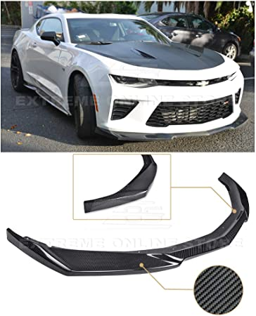 Extreme Online Store Replacement For 2019-Present Chevrolet Camaro SS /& RS Models Refreshed ZL1 Style ABS Plastic PRIMER BLACK Front Bumper Lower Lip Splitter Fascia Extension