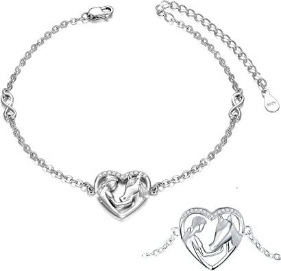 "Womens 925 Sterling Silver Cubic Zirconia Key-Hearts Bizmark 7/"" Bracelet"