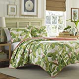 Tommy Bahama Aregada Dock Ecru Quilt Set, Full/Queen, Ecru