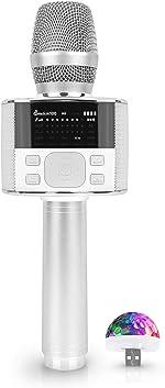 Wireless Bluetooth Karaoke Microphone, with LED Screen, Portable Handheld MIC &