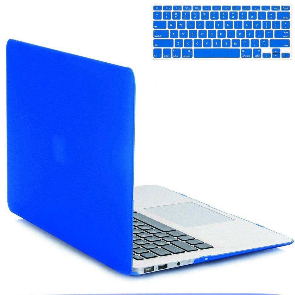 super popular 6fa30 48bb7 Aleesh Macbook Air 11.6 Inch Case(a1370/a1465) Rubberized Hard Shell  Protective Case With Soft Keyboard Cover For Macbook Air 11/11.6 (royal  Blue)