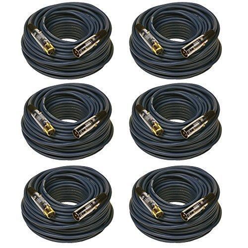 Seismic Audio SAPGX-100Blue-6 Pack Premium XLR Microphone Cable 100' Blue [並行輸入品] B07DZHZNCC