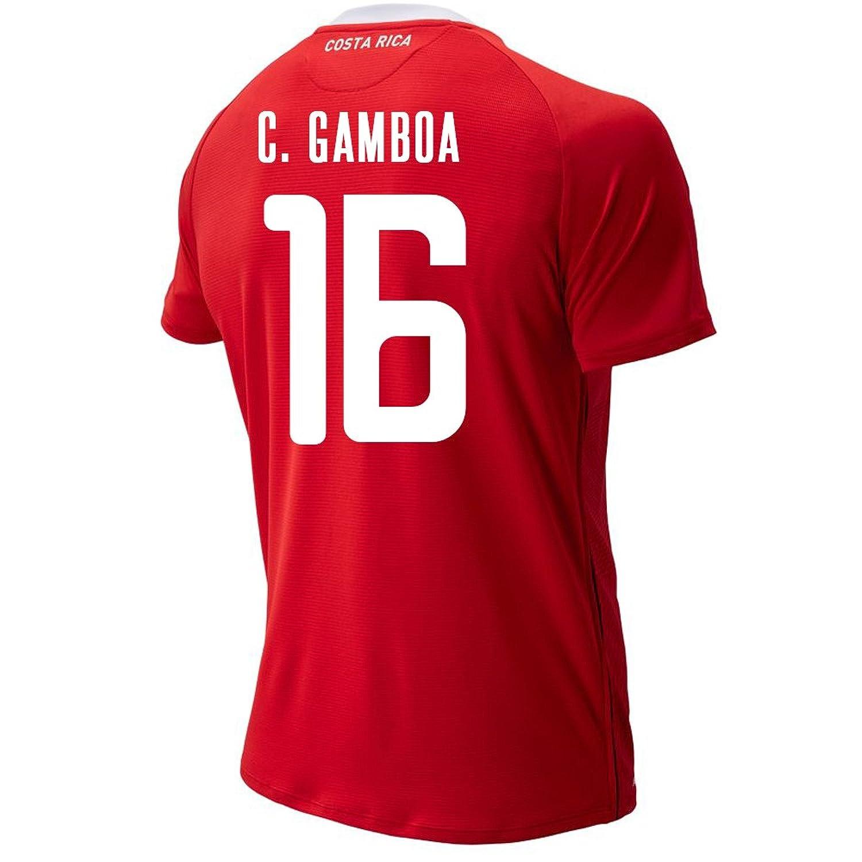 New Balance Men's C. GAMBOA #16 Costa Rica Home Soccer Jersey FIFA World Cup Russia 2018/サッカーユニフォーム コスタリカ ホーム用 ガンボア #16 B07CZ2J6ZY US Large