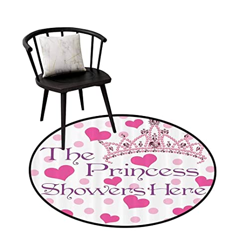 Amazoncom Modern Round Rug Funny Quotes Girl Baby Shower