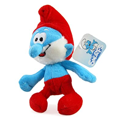 The Smurfs Movie 8 Inch Plush Papa Smurf Toy -: Toys & Games