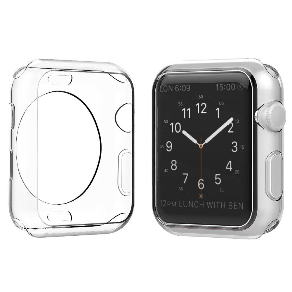 Simpeak Case Frame for Apple Watch 38mm,[5 Packs] Simpeak Slim Scratch Resistant Soft Case for 38mm Apple Watch Series 2,Transparent, Black, Gold, Rose Gold, Silver by Simpeak (Image #4)