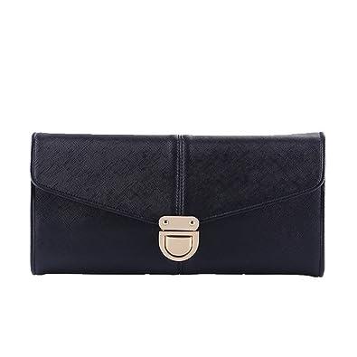 d21640cf58 Grace Angel Women's PU leather Envelope Clutches Handbags Evening Bag  GA16426 (Black)