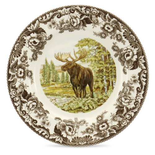 Spode Woodland Majestic Moose Dinner Plate