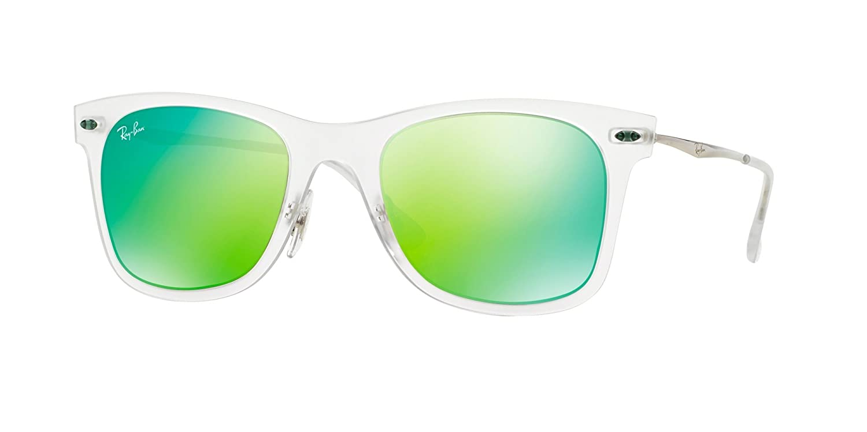 Amazon.com: Ray-Ban Women\'s Tech Light Sunglasses, Matte Transparent ...