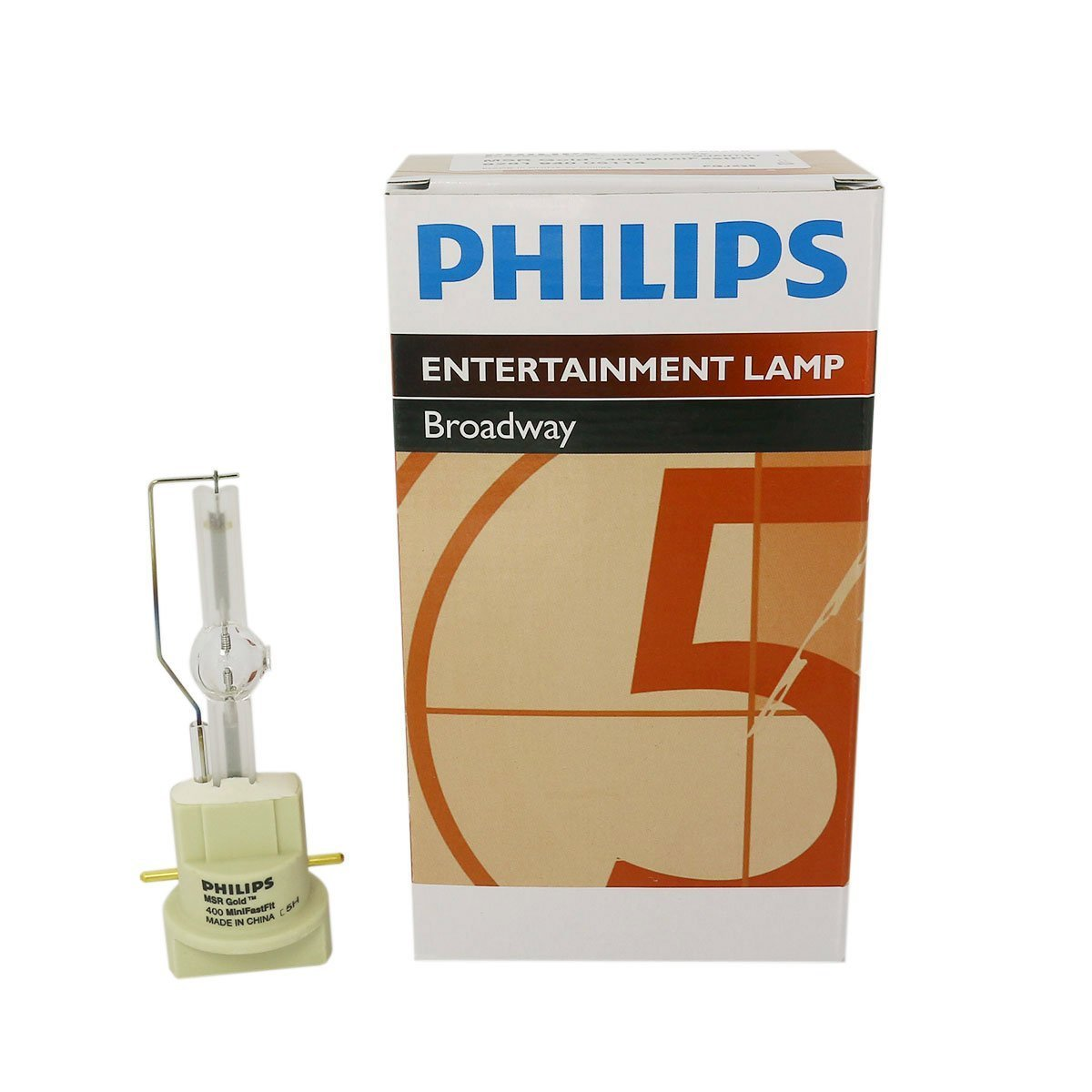 Philips MSR Gold 400 MiniFastFit 400W AC Lamp for Touring/Stage Lighting