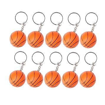 4 llaveros colgantes con dise/ño de baloncesto LIOOBO