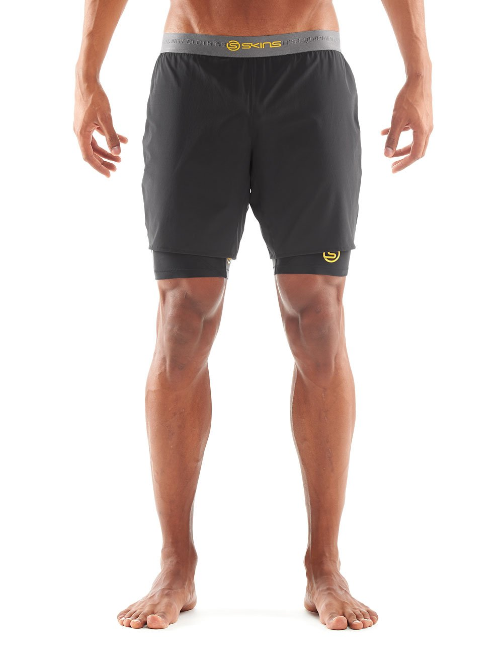 Skins Herren Shorts DNAmic Superpose Half 1/2 Tights