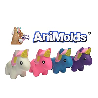 Squeeze Me Mini Unicorns The Squishy Version Fun Toy for Parties Gifts Decorations Collect Them Display Them Assorted Colors (Any Color FBA): Toys & Games