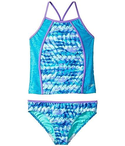 b37bd21431 Amazon.com : Speedo Rhythmic Tie Dye Tankini Two Piece Swimsuit ...
