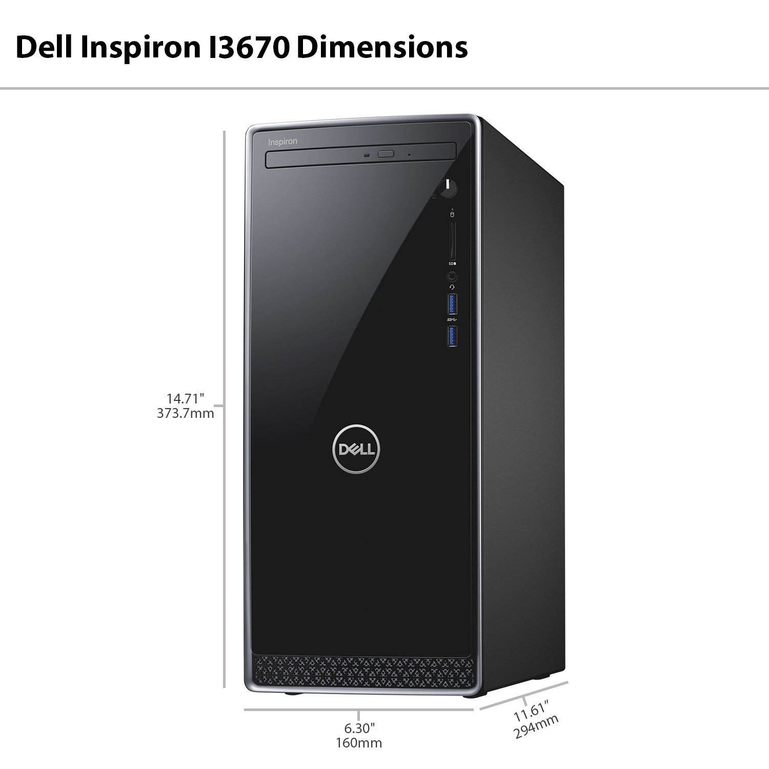Amazon com: Dell Inspiron i3670 Desktop - 8th Gen Intel Core i7